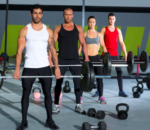 CROSSTRAININGphotodune-3709294-gym-group-with-weight-lifting-bar-crossfit-workout-l